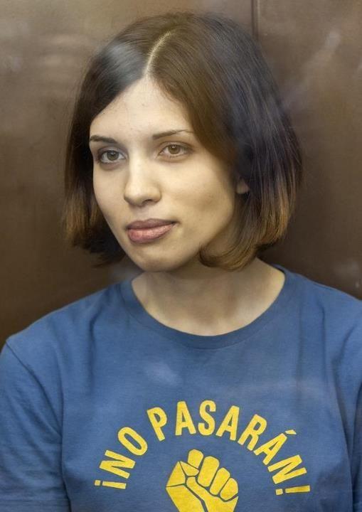 Nadezhda Tolokonnikova  - 1989- Etudiante en philosphie, artiste et activiste politique russe, membre du groupe punk rock féministe Pussy Riot.
