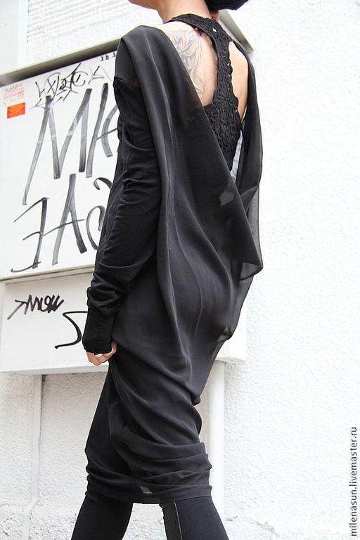 Купить Туника из шифона - туника, кофта, трикотаж, трикотажное платье, платье, платье трикотажное