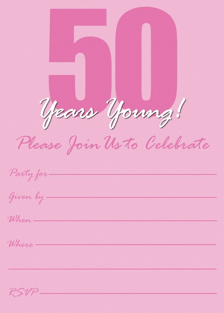 186 best images about Invitations – Printable 50th Birthday Invitations Templates