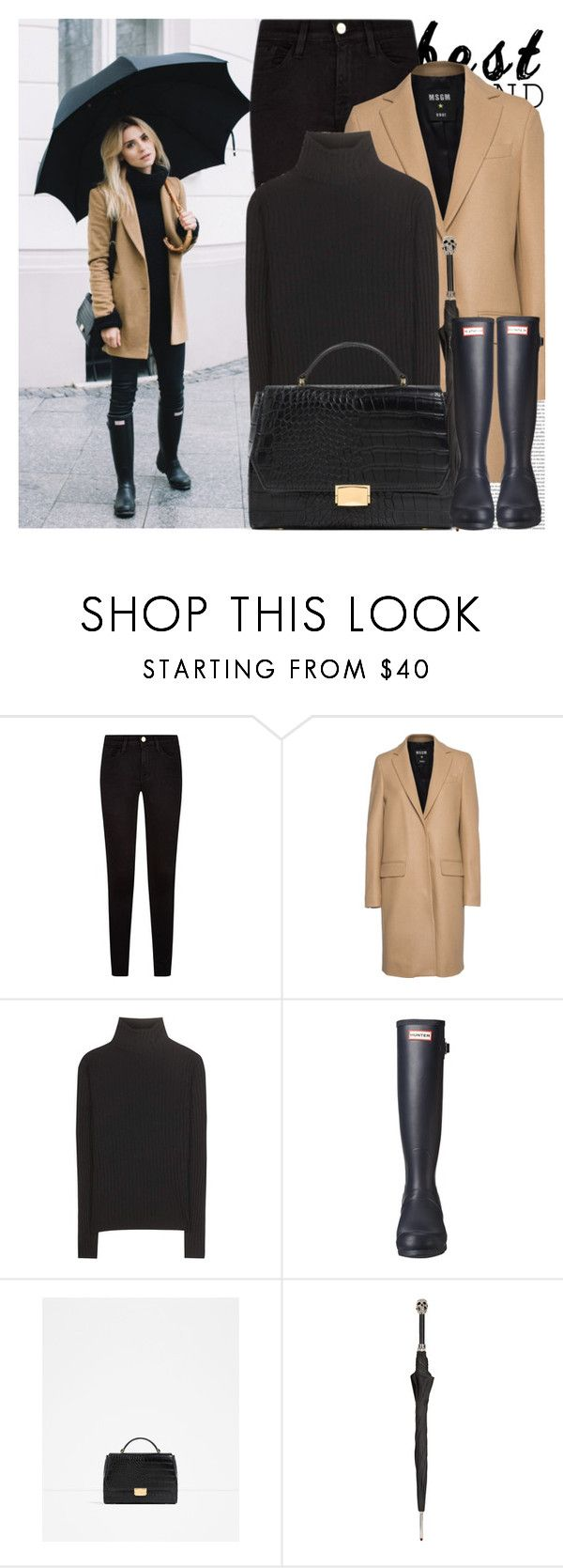 """""""2445. Blogger Style: Make Life Easier"""" by chocolatepumma on Polyvore featuring Oris, Frame, MSGM, Acne Studios, Hunter, Zara and Pasotti Ombrelli"""