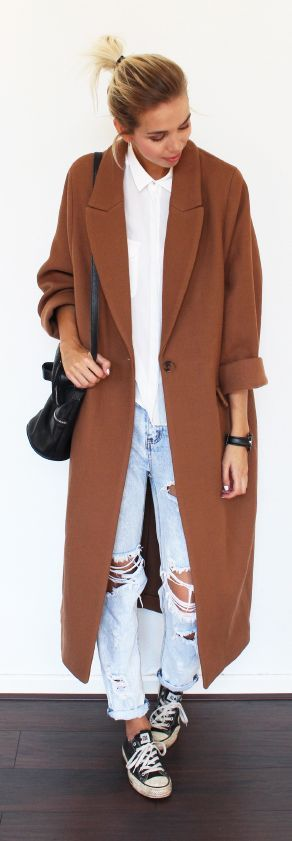 Camel Super Oversized Coat Fall Inspo by Connectedtofashion