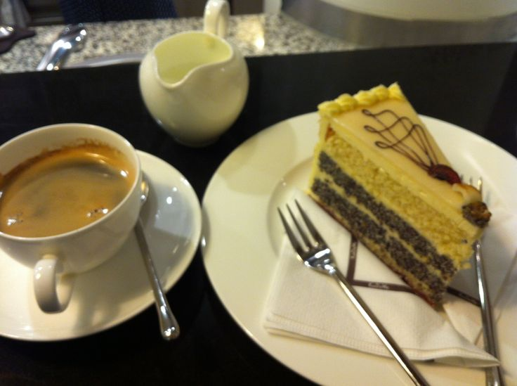 Coffee and torte at the top floor of Kadewe Dept Store, Berlin. We came back the following day for brunch!