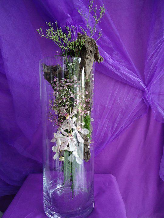 Vase Arrangment White Orchids..