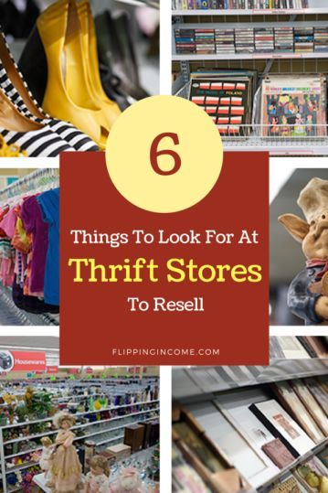 6 Things to Look For at Thrift Stores to Resell | fleamarkets