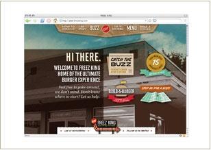 Web site design © Think Baseline, for Freez King (restaurant) #web design #graphic design freezking.com