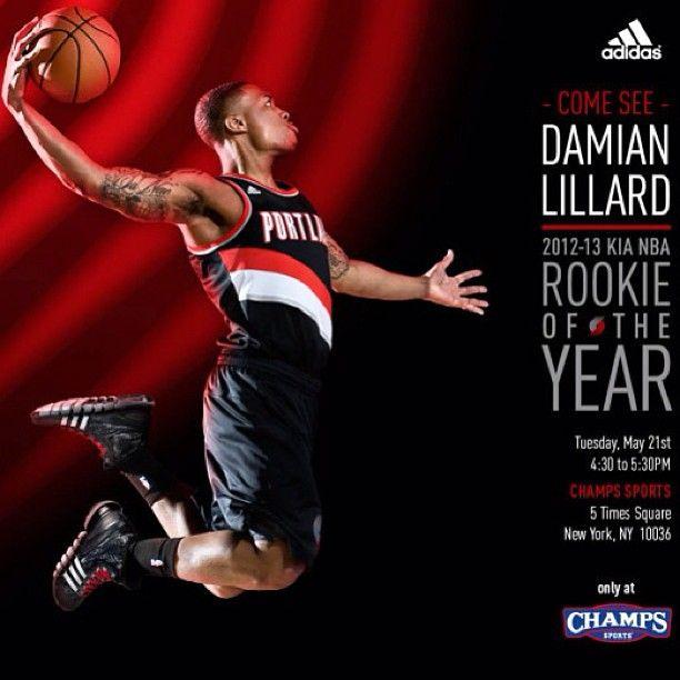 fdc11c0bdf401 Rookie of the Year  Damian Lillard