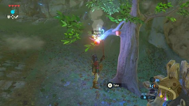 Little Detail I Discovered On A New Save That I Think This Sub Would Appreciate Roasting Apples On A Tree With A T Breath Of The Wild Discover Legend Of Zelda