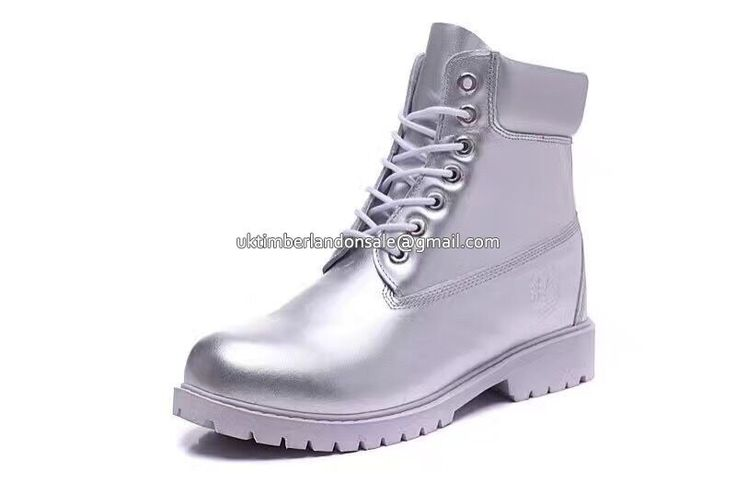 UK Timberland Women 6 Inch Silver Premium Waterproof Boots £ 69.59