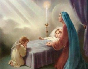 """Pourquoi l'Eglise l'appelle « Porte du ciel toujours ouverte » …  Dans sa grande sagesse l'Eglise, experte en humanité, offre à ses fidèles des mots d'une grande confiance pour l'heure décisive ("""" Sainte Marie, Mère de Dieu, priez pour nous à l'heure de notre mort... """"). Mais ce n'est pas comme une régression nostalgique vers un âge infantile que nous prions la Vierge. C'est au contraire comme une projection vers un avenir où nous savons que notre Mère nous précède et nous attend."""