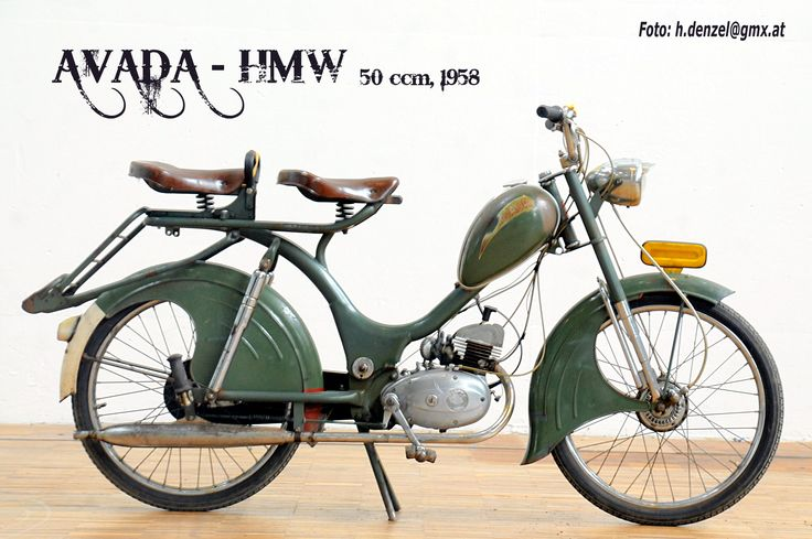 avada hmw 50ccm 1958 benzinradl 39 n pinterest mopeds scooters and motorized bicycle. Black Bedroom Furniture Sets. Home Design Ideas