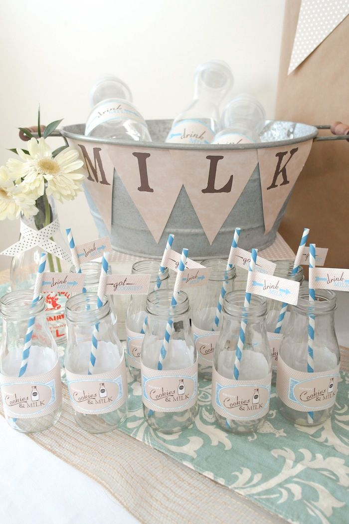 Cookies and Milk Baby Shower {Party Ideas, Decor, Planning}