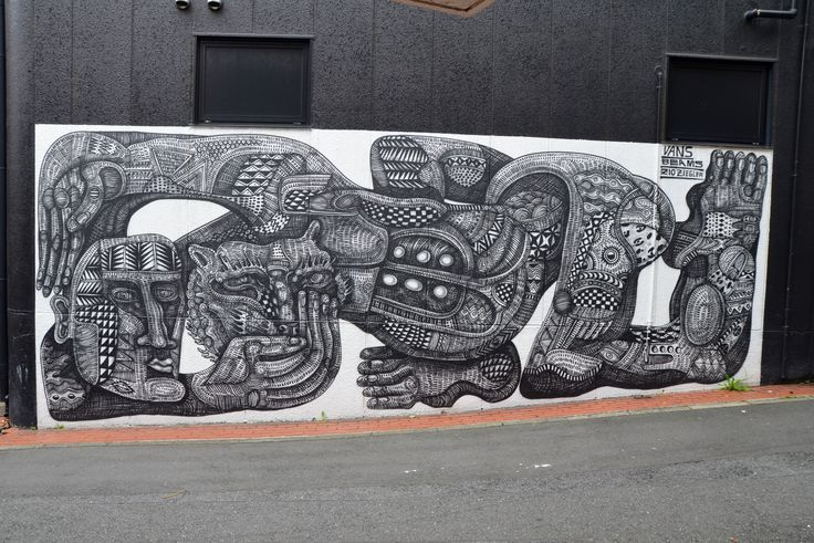 Zio Ziegler mural in Harajuku (2014).