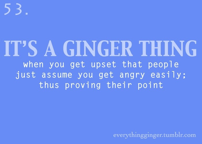 Dating a ginger quotes