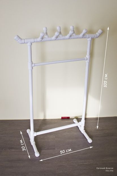 Picture of PVC rack for kids clothes (perfect for dress up)