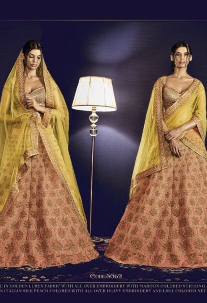 Skirt in Italian Silk Peach Colored With All Over Heavy Embroidery @ fashionsbyindia.com #designs #indian #womens #style #cloths #stylish #casual #fashionsbyindia #punjabi #suits #wedding #chic #elegance #beauty #outfits #fantasy #embroidered #dress #PakistaniFashion #Fashion #Longsuit #FloralEmbroidery #Fashionista #Fashion2015 #IndianWear #WeddingWear #Bridesmaid #BridalWear #PartyWear #Occasion #OnlineShopping #salwar #kameez #lehenga