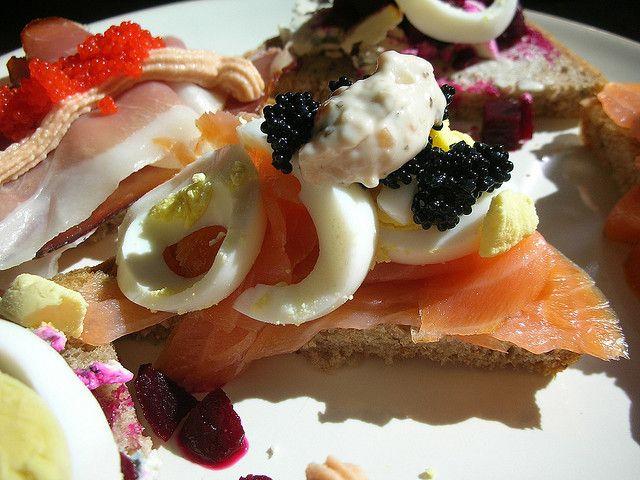 Smoked salmon, hard boiled egg, lumpfish caviar & horseradish sauce smørrebrød | Flickr - Photo Sharing!