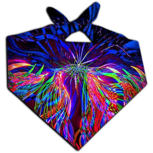 Trippy Concert Artwork Bandana Festival Lightshow Art Headband Edm... ($13) ❤ liked on Polyvore featuring accessories, hair accessories, grey, headbands & turbans, head wrap headband, headband hair accessories, gray bandana, fold handkerchief and hair band headband