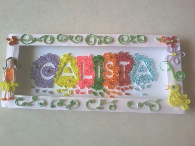 "Name tag frame ""calista"""