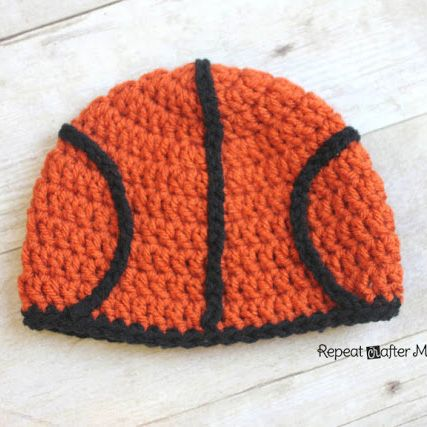 Repeat Crafter Me: Crocheted Basketball Hat Free Pattern