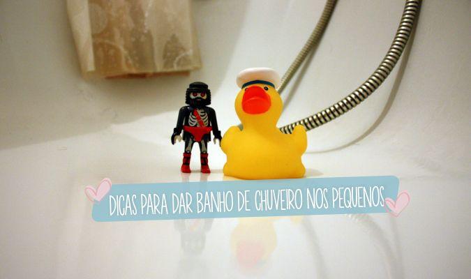 Dicas para a transição do banho de banheira para banho de chuveiro