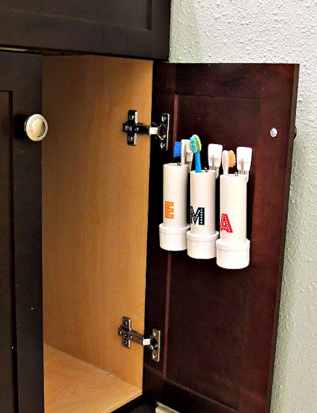 PVC Pipe Toothbrush Holders | Creative DIY Bathroom Ideas On A Budget | DIY Projects