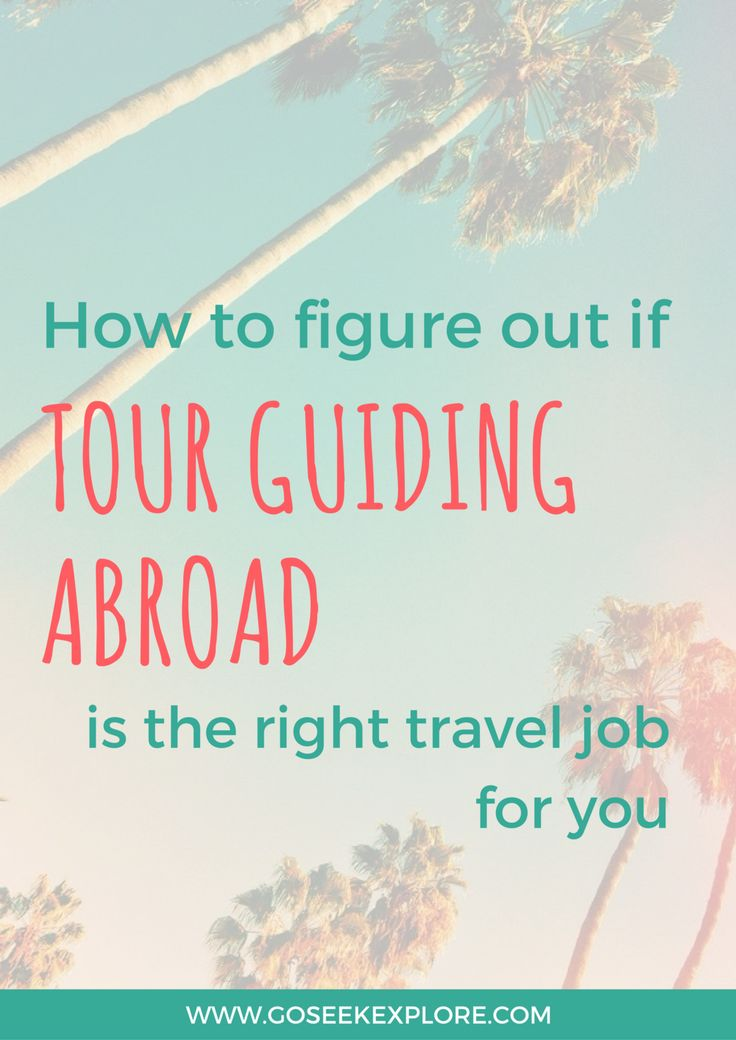 If you are interested in working while traveling, then a job as a tour guide could be a great option for you. Being a tour guide is an great way to see the world. In fact, that's exactly what I did. I was a guide based in Italy and led trips all around Italy and Europe. Before I graduate