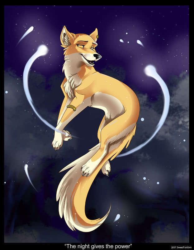Moonglow,female, has the power to fly and use the power of moonlight. No mate or pups.