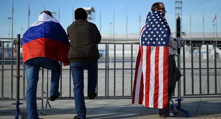 Ruská a americká vlajka