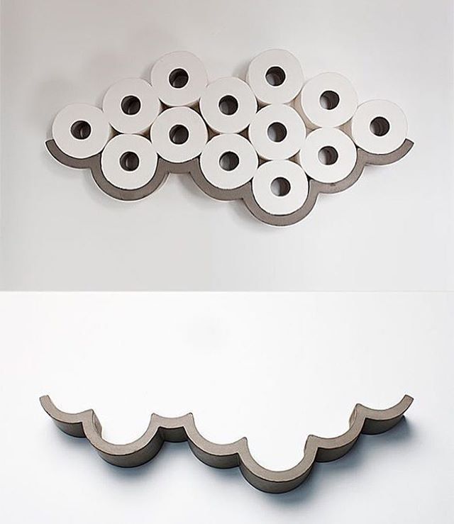 Concrete Cloud Toilet Paper Shelves By | Bertrand Jayr