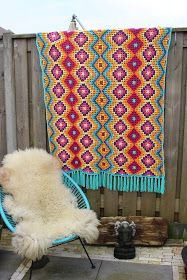 @nr54 Crochet blanket/rug, starting w/large granny squares