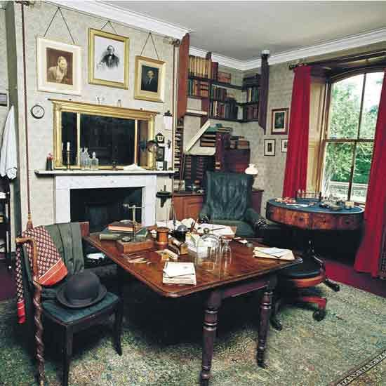 Charles Darwin's writing room: Comfortable, private, quiet: what more could a Victorian gentleman require?