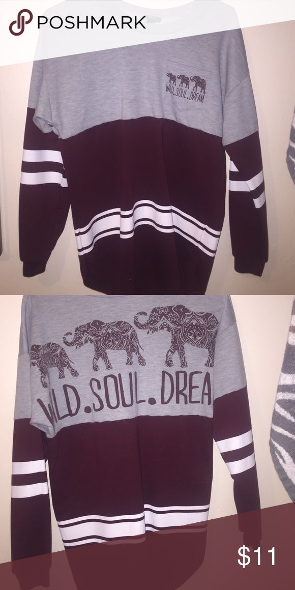 Varsity top Size small Rue 21 Tops Sweatshirts & Hoodies                                                                                                                                                                                 More