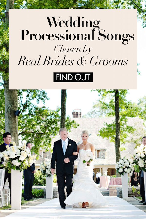 Wedding Processional Songs Chosen by Real Brides & Grooms | Photography: Kortnee Kate. Read More: https://www.insideweddings.com/news/planning-design/wedding-processional-songs-chosen-by-real-brides-grooms/2436/