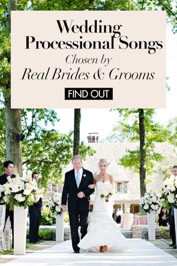 Wedding Processional Songs Chosen by Real Brides & Grooms   Photography: Kortnee Kate. Read More: https://www.insideweddings.com/news/planning-design/wedding-processional-songs-chosen-by-real-brides-grooms/2436/