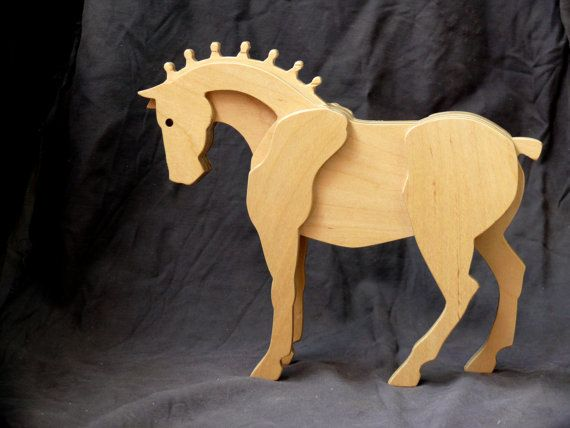 Wooden horse Wooden toys Horse figurine Horse от carpinterowood