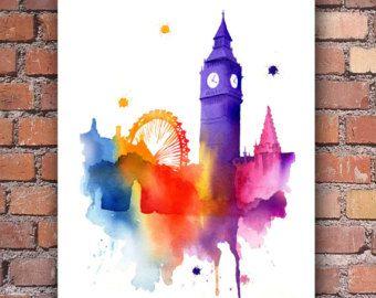Decoración de la pared de Londres horizonte por 1GalleryAbove
