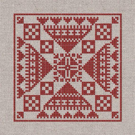 Stjärnblomma - Instant Download PDF cross-stitch pattern