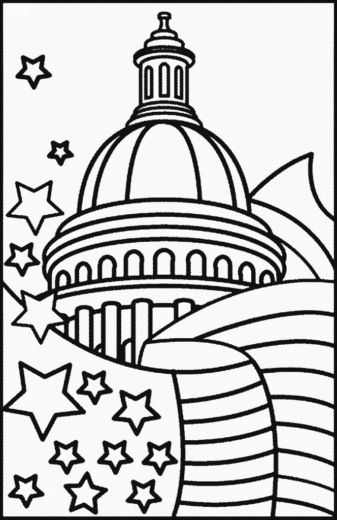 fourth of july coloring page which are suitable for boys and girls description from coloringkids