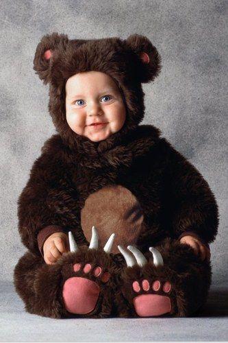 Mon bébé déguisé en ours pour carnaval, une chouette idée de mardi-gras