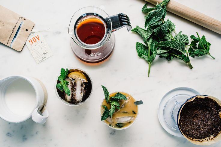 Munt-mojito ijskoffie