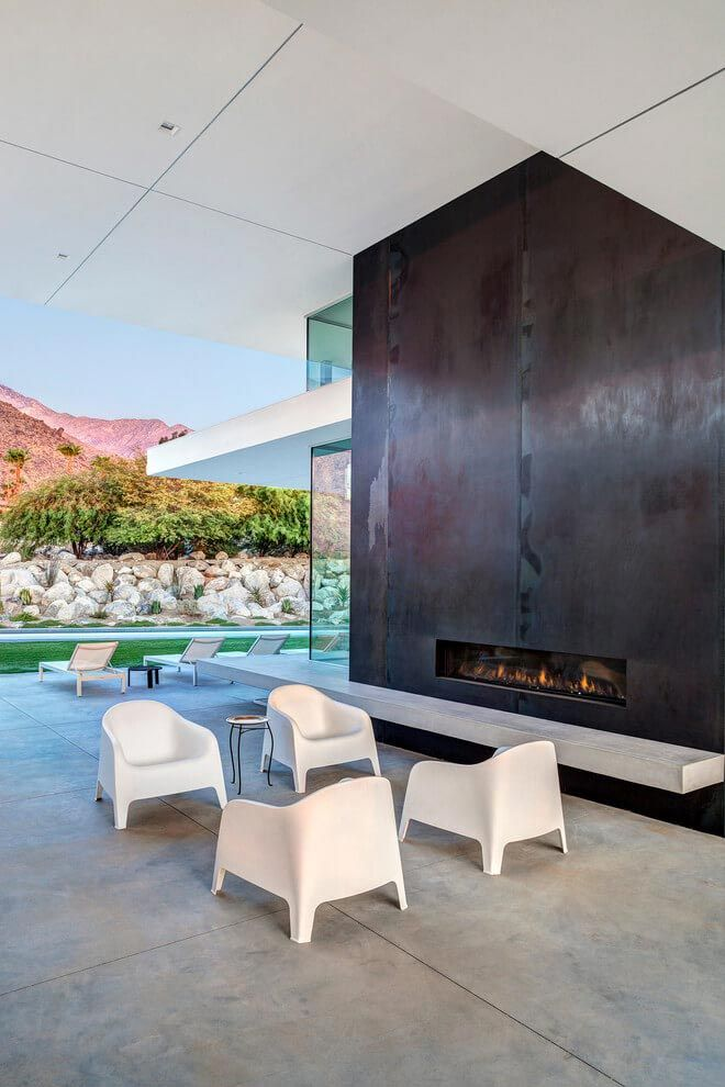 One story modern Palm Springs open house by Cioffi Architect - CAANdesign | Architecture and home design blog