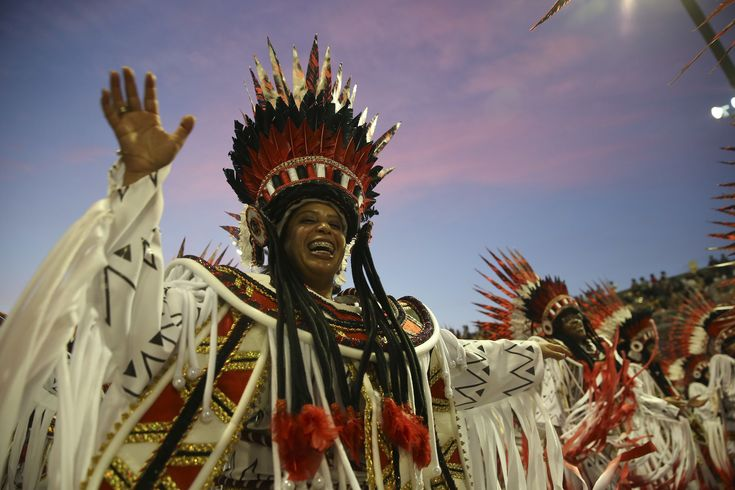 #Brazilians #dancing away #troubles at Carnival parties...