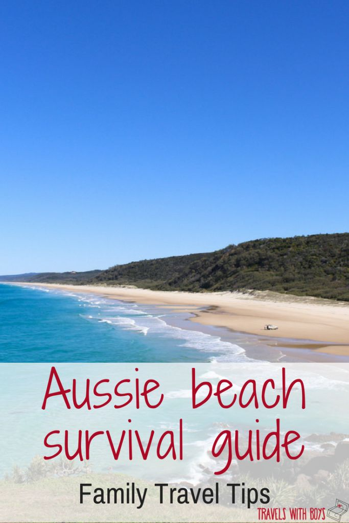 Get the most out of your visit to the beach in Australia with kids, with our Aussie beach survival guide on how to deal with everything from chafing to bluebottle stings. Family travel. travelswithboys.com