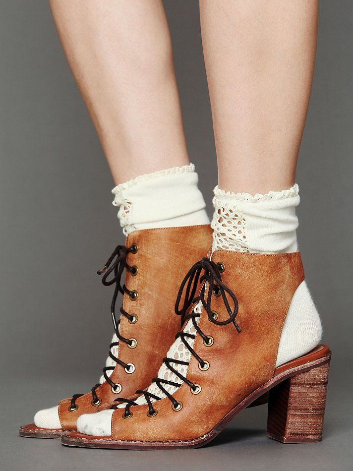 Jeffrey Campbell Minimal Lace Heel FreePeople