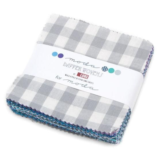 Patchwork Quilting 10 Inch Squares Moda Fabric Dapper Layer Cake