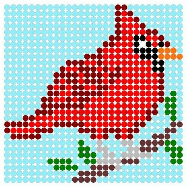 23 red bird beads patterns