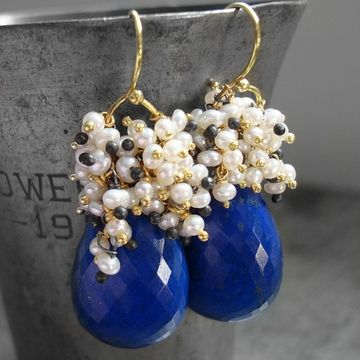 Lapis Lazuli earrings.Ideas, Jewelry Inspiration, Marguerite Earrings, Lapis Lazuli, Southwestern Jewelry, Lazuli Earrings