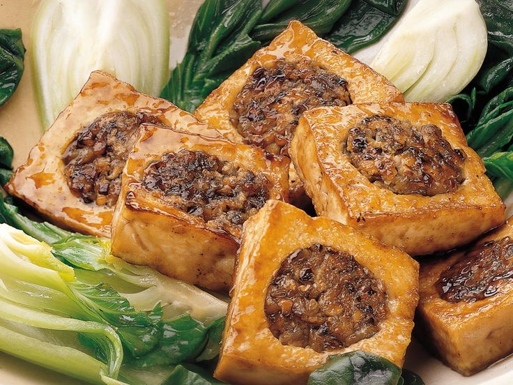 Braised Stuffed Tofu