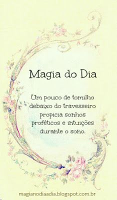 Magia no Dia a Dia: Magia do Dia: Tomilho http://magianodiaadia.blogspot.com.br/2016/12/magia-do-dia-tomilho.html