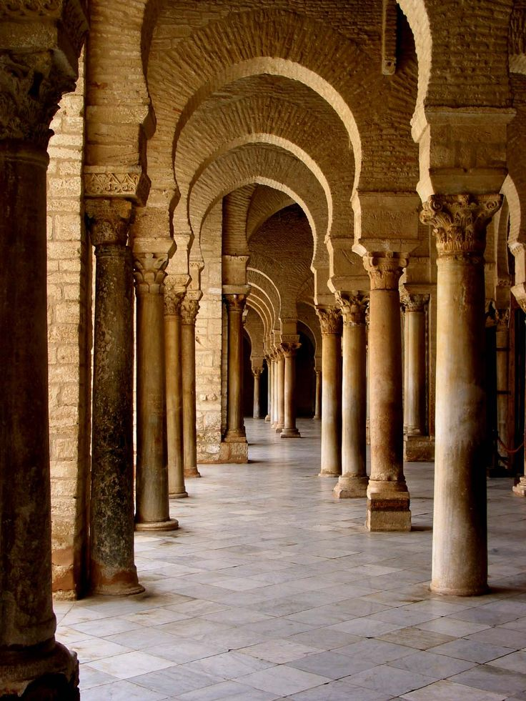 Roman Architecture Columns ancient roman columns in the great mosque of kairouan